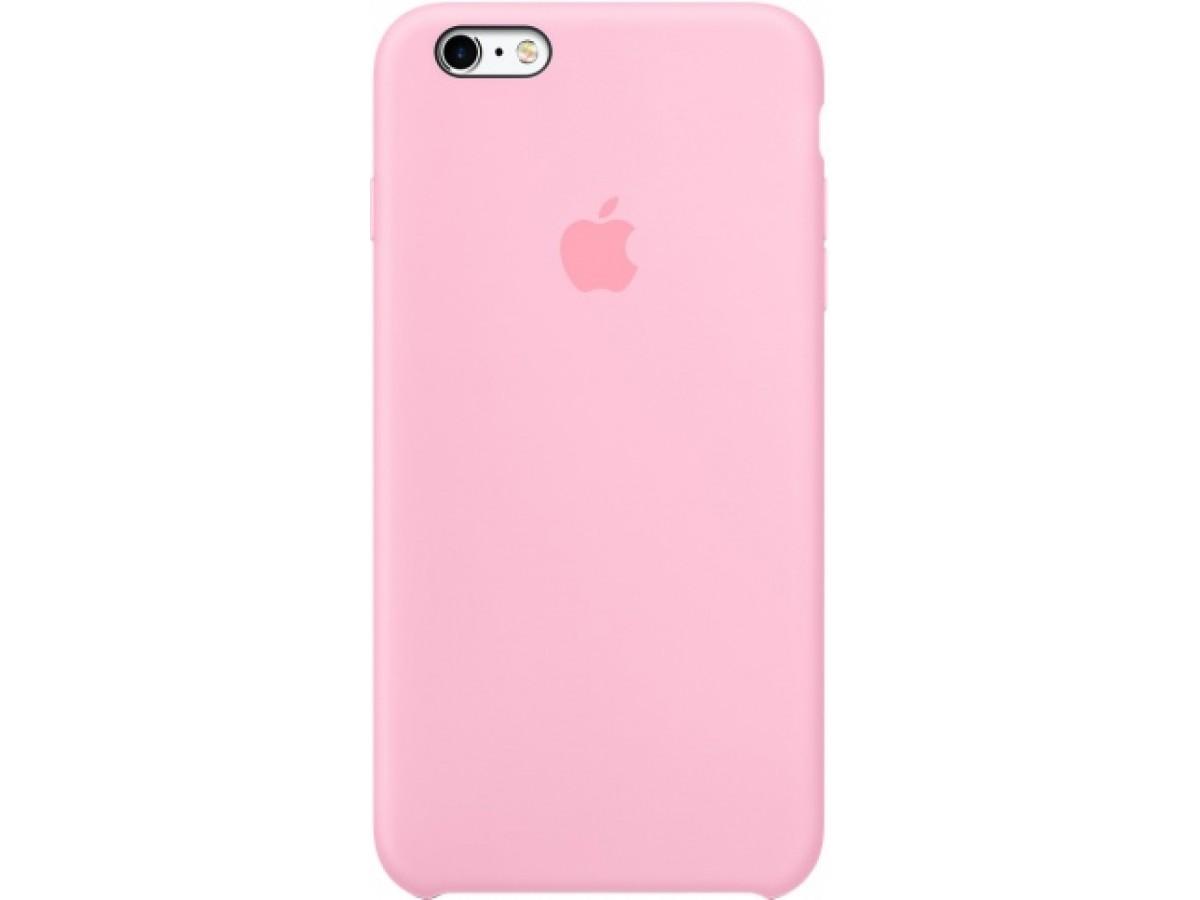 Чехол Silicone Case iPhone 6 Plus/6s Plus розовый в Тюмени
