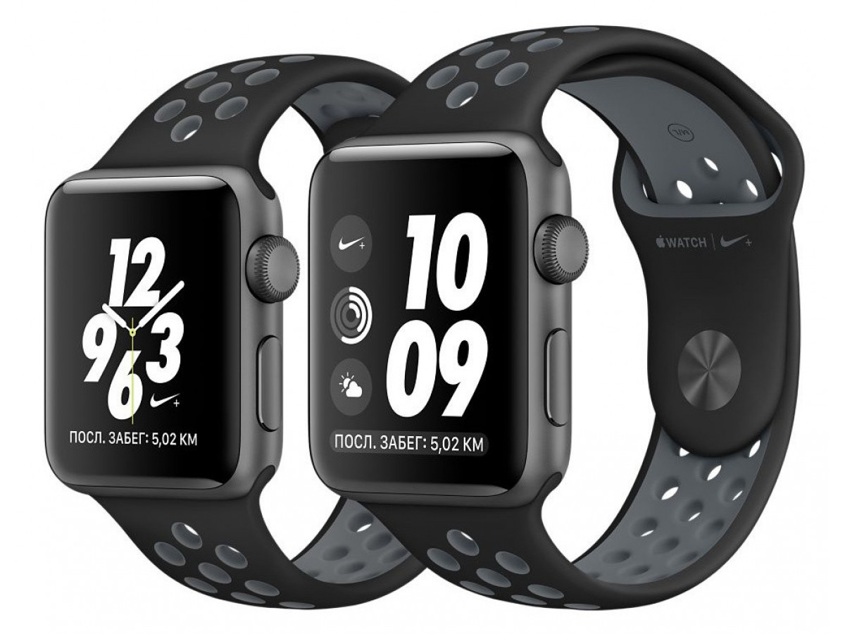 Силиконовый ремешок Apple Watch Nike 42/44мм черный в Тюмени