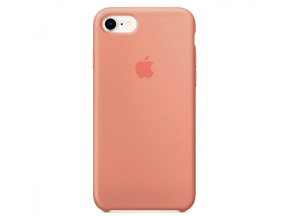 Чехол Silicone Case качество Lux для iPhone 7/8 персиковый в Тюмени