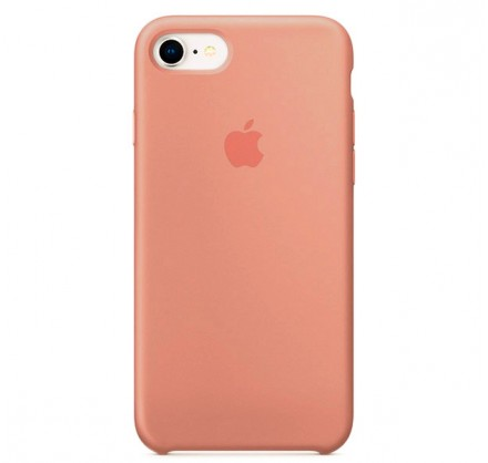 Чехол Silicone Case iPhone 7/8 персиковый