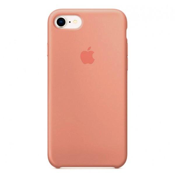 Чехол Silicone Case качество Lux для iPhone 7/8 персиковый