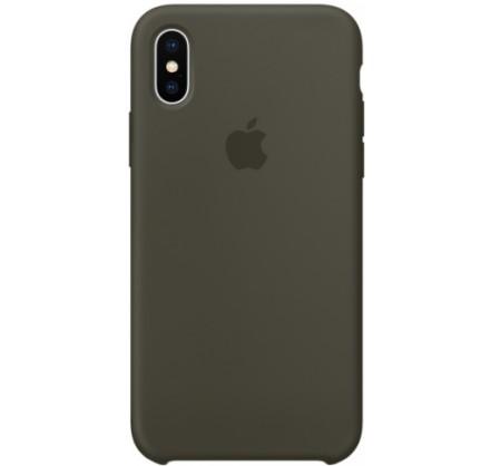Чехол Silicone Case iPhone X/Xs темно-оливковый