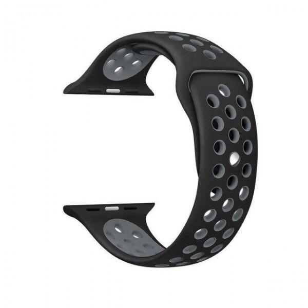 Силиконовый ремешок Apple Watch Nike 42/44мм черный