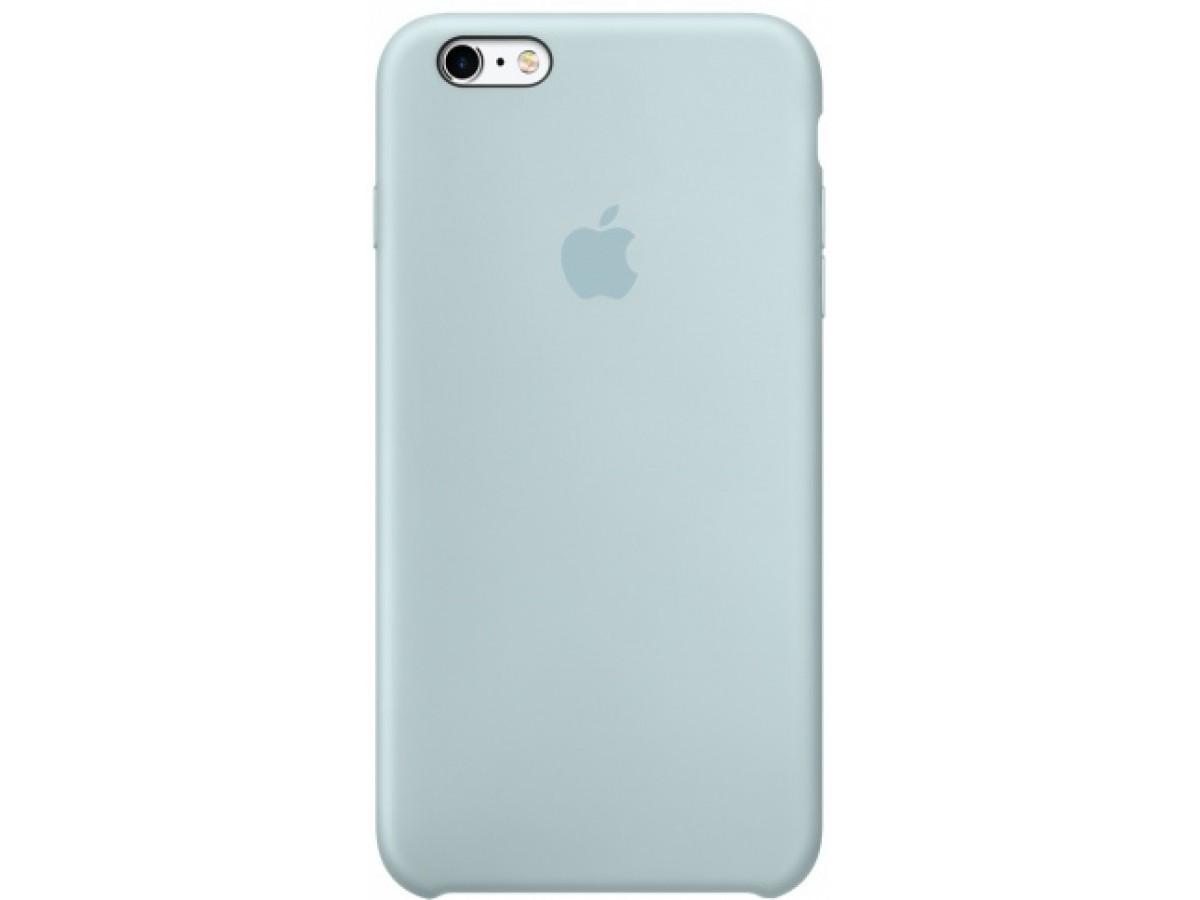Чехол Silicone Case iPhone 6/6s бирюзовый в Тюмени