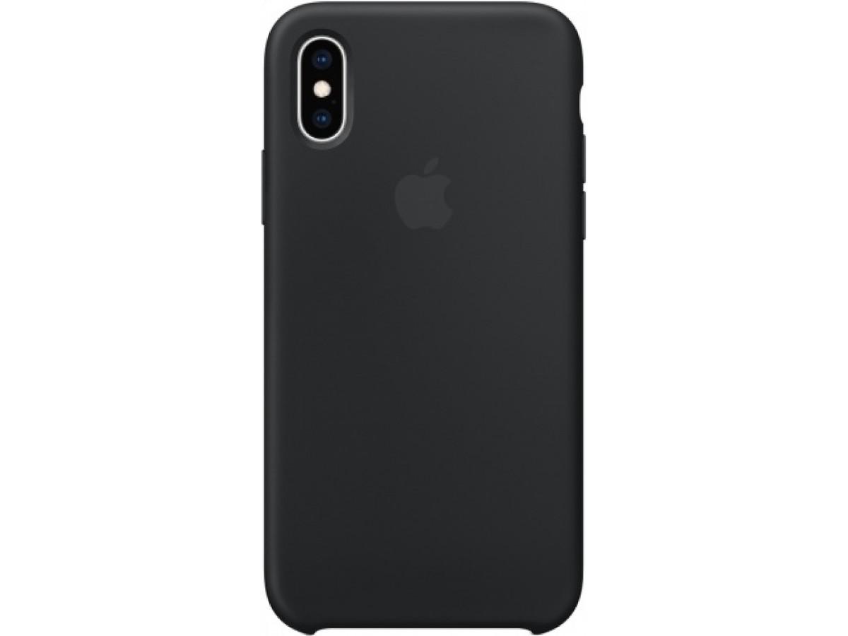 Чехол Silicone Case iPhone Xs Max черный в Тюмени