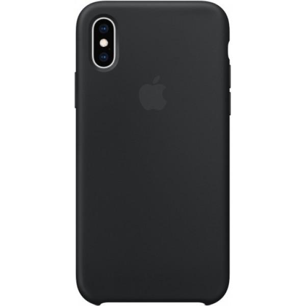 Чехол Silicone Case iPhone Xs Max черный