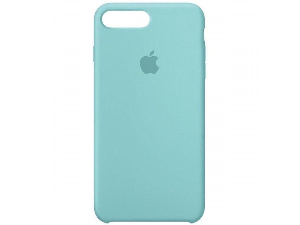 Чехол Silicone Case iPhone 7 Plus/8 Plus бирюзовый в Тюмени