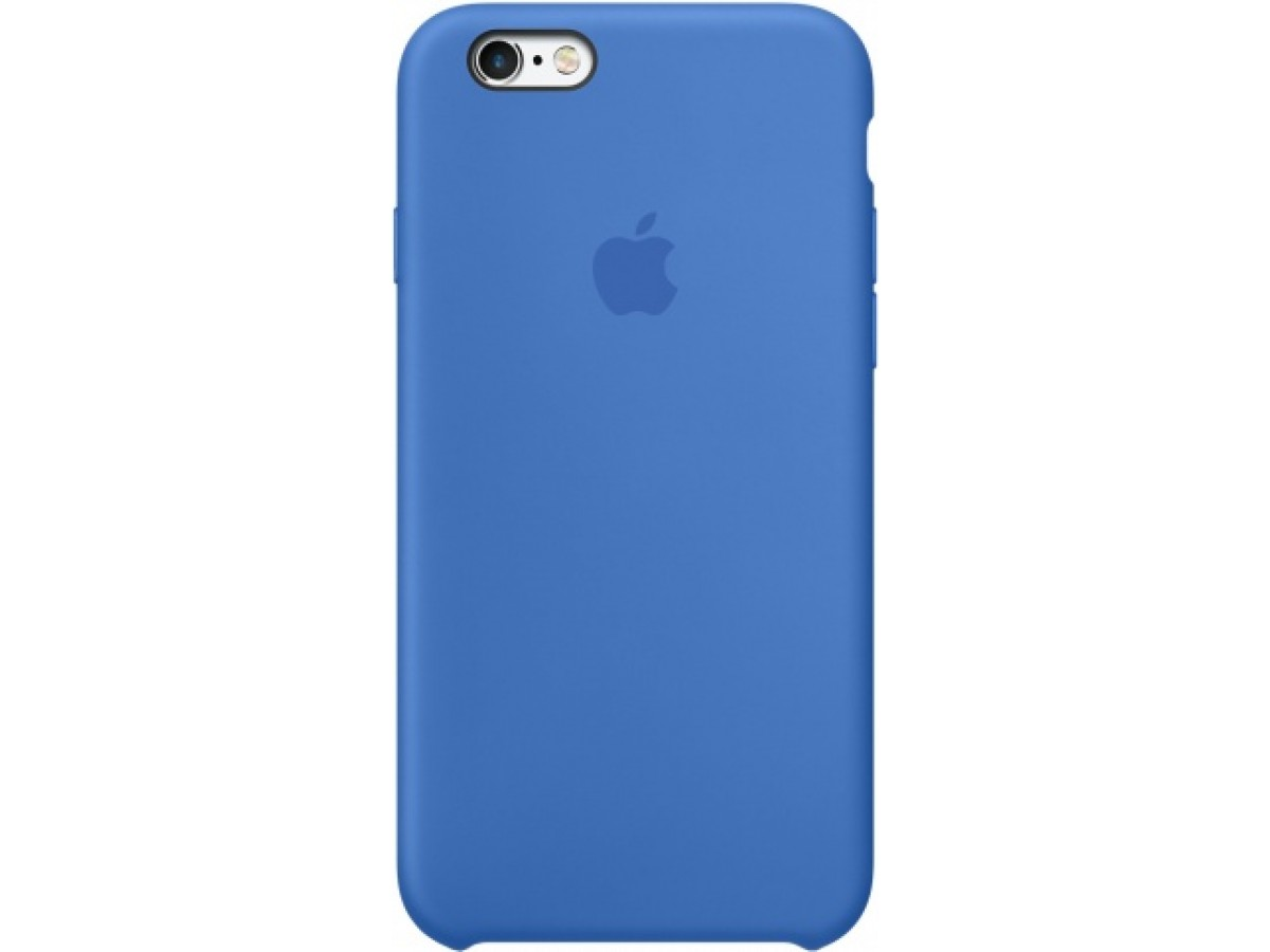 Чехол Silicone Case iPhone 6/6s синий в Тюмени