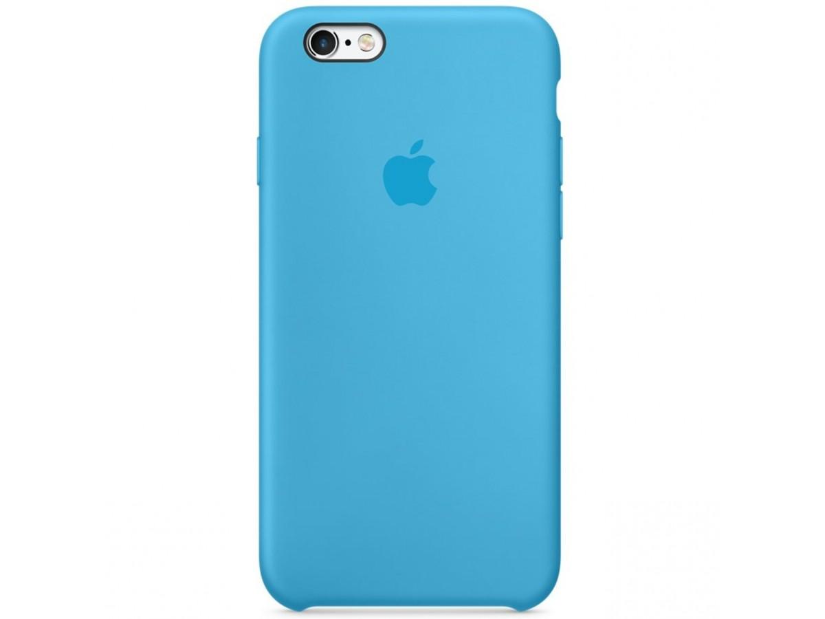 Чехол Silicone Case качество Lux для iPhone 6/6s голубой в Тюмени