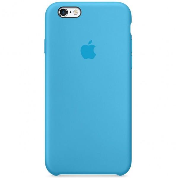 Чехол Silicone Case качество Lux для iPhone 6/6s голубой