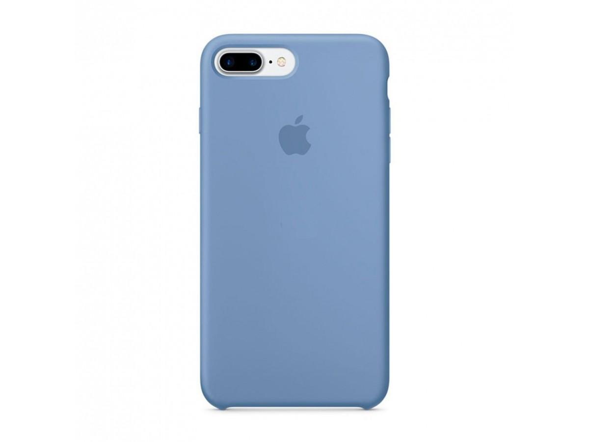 Чехол Silicone Case iPhone 7 Plus/8 Plus голубой в Тюмени