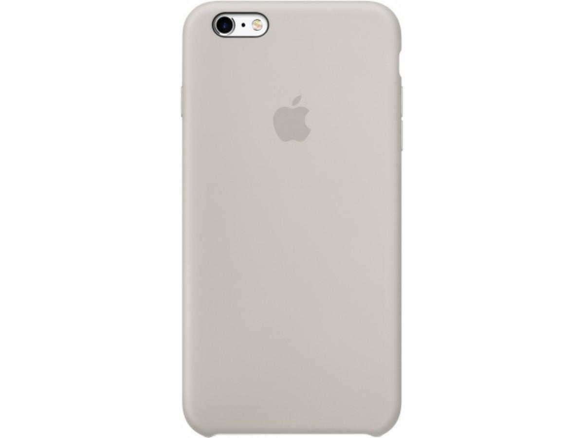 Чехол Silicone Case iPhone 6 Plus/6s Plus светло-серый в Тюмени