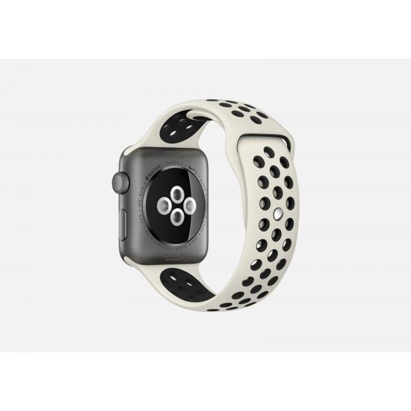 Силиконовый ремешок Apple Watch Nike 38/40мм бежевый
