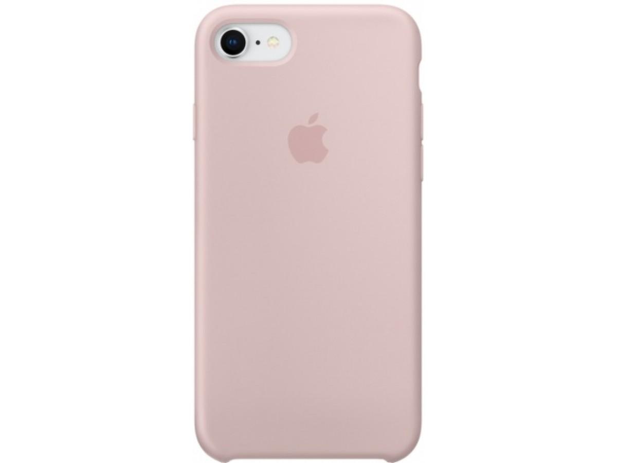 Чехол Silicone Case iPhone 7/8 светло-розовый в Тюмени