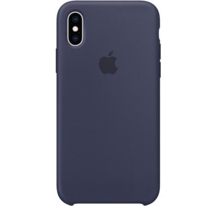 Чехол Silicone Case iPhone X/Xs темно-синий
