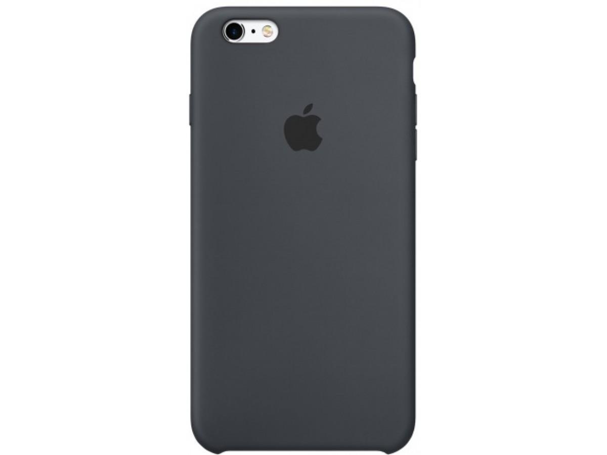 Чехол Silicone Case iPhone 6/6s темно-серый в Тюмени