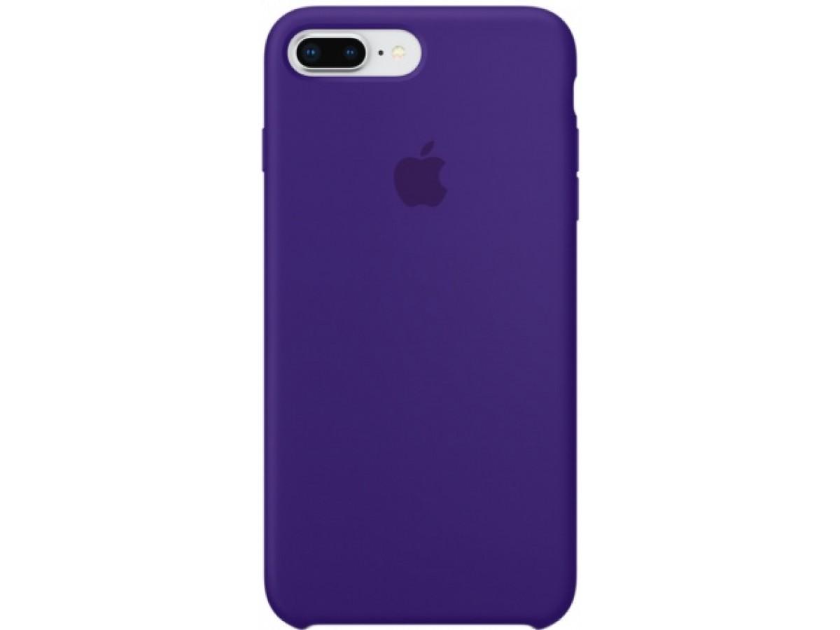 Чехол Silicone Case iPhone 7 Plus/8 Plus фиолетовый в Тюмени