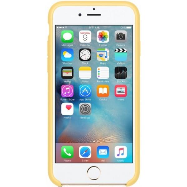 Чехол Silicone Case iPhone 6/6s желтый