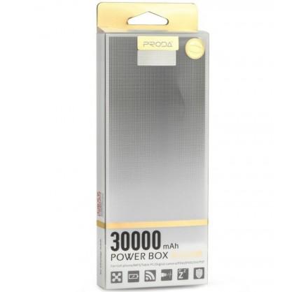 PowerBank Proda 30000mAh (черный/белый)