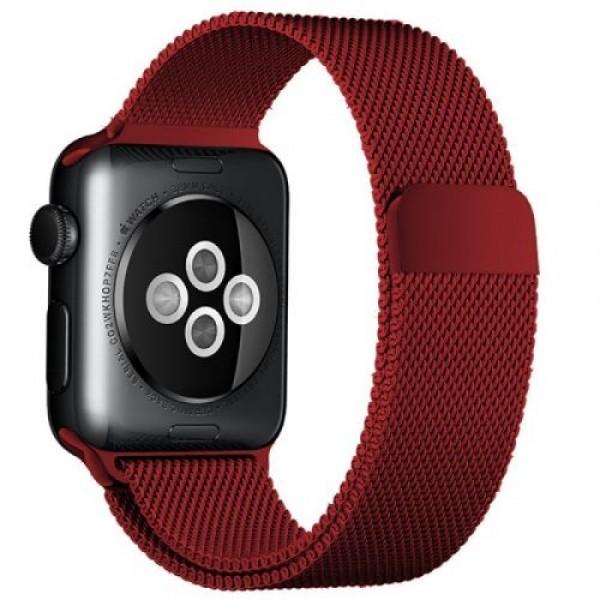 Браслет Apple Watch 38/40мм миланский сетчатый (красный)