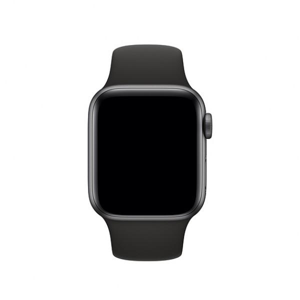 Силиконовый ремешок Apple Watch 38/40мм черный