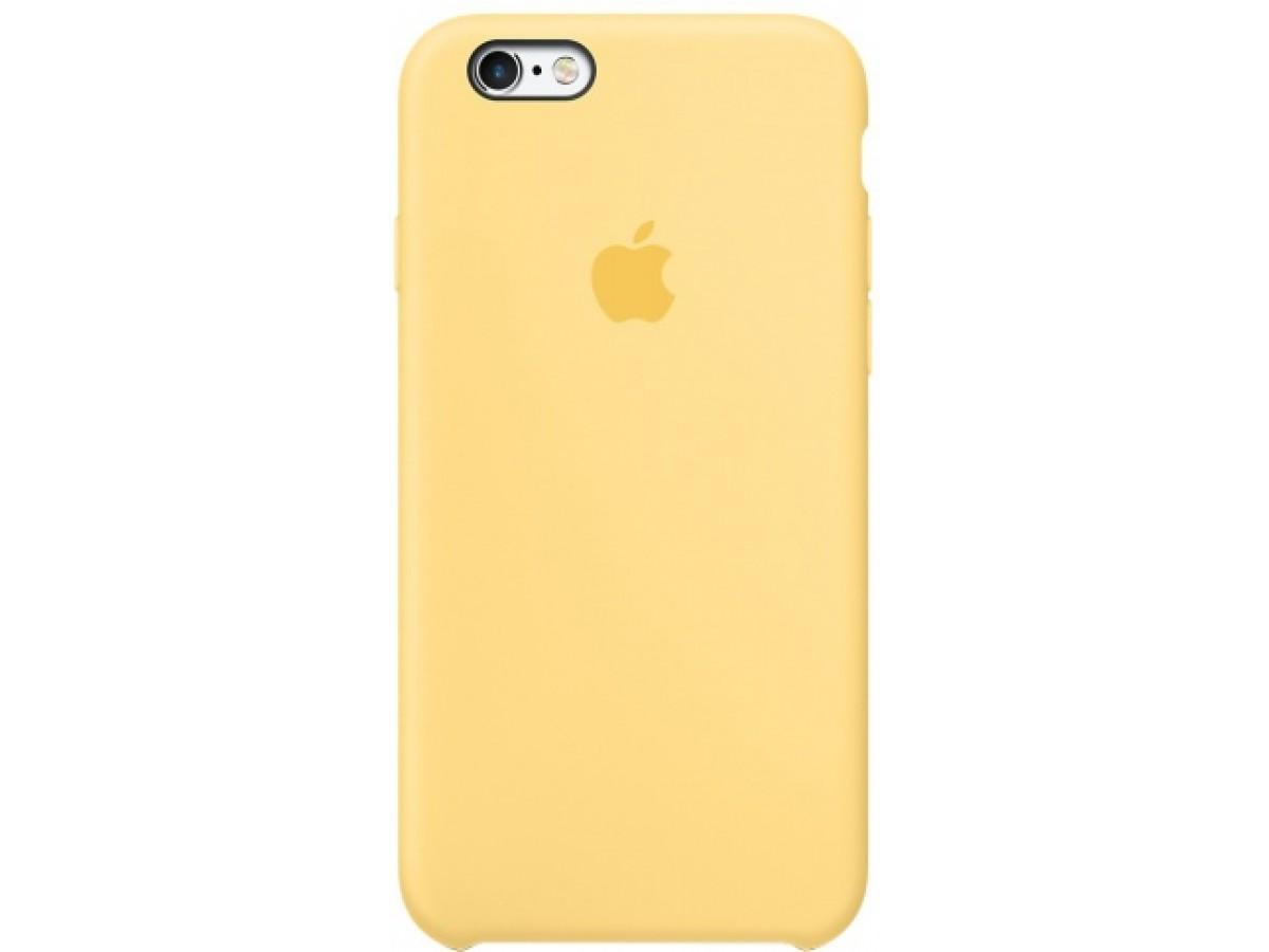 Чехол Silicone Case iPhone 6/6s желтый в Тюмени
