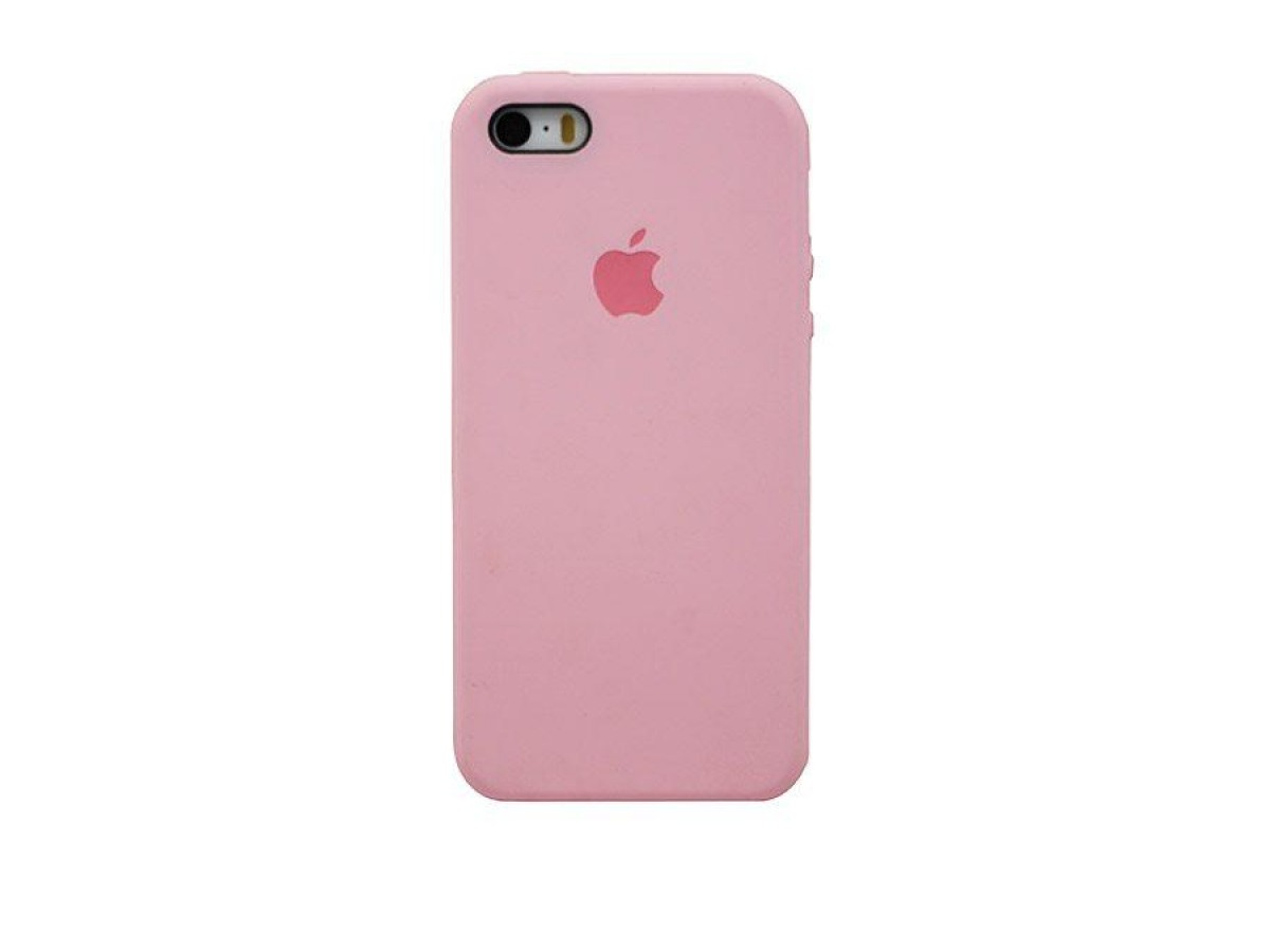 Чехол Silicone Case iPhone 5s/SE розовый