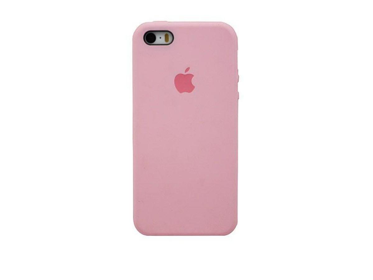 Чехол Silicone Case iPhone 5s/SE розовый в Тюмени