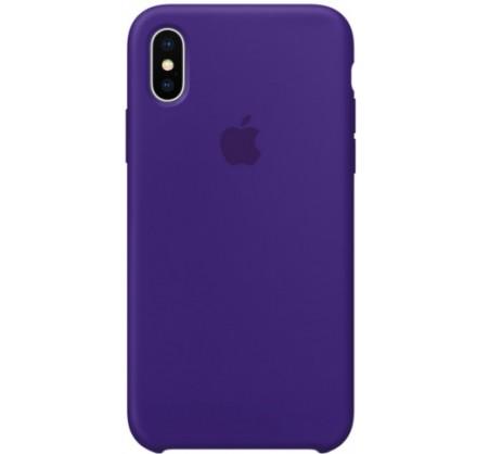 Чехол Silicone Case качество Lux для iPhone X/Xs фиолет...