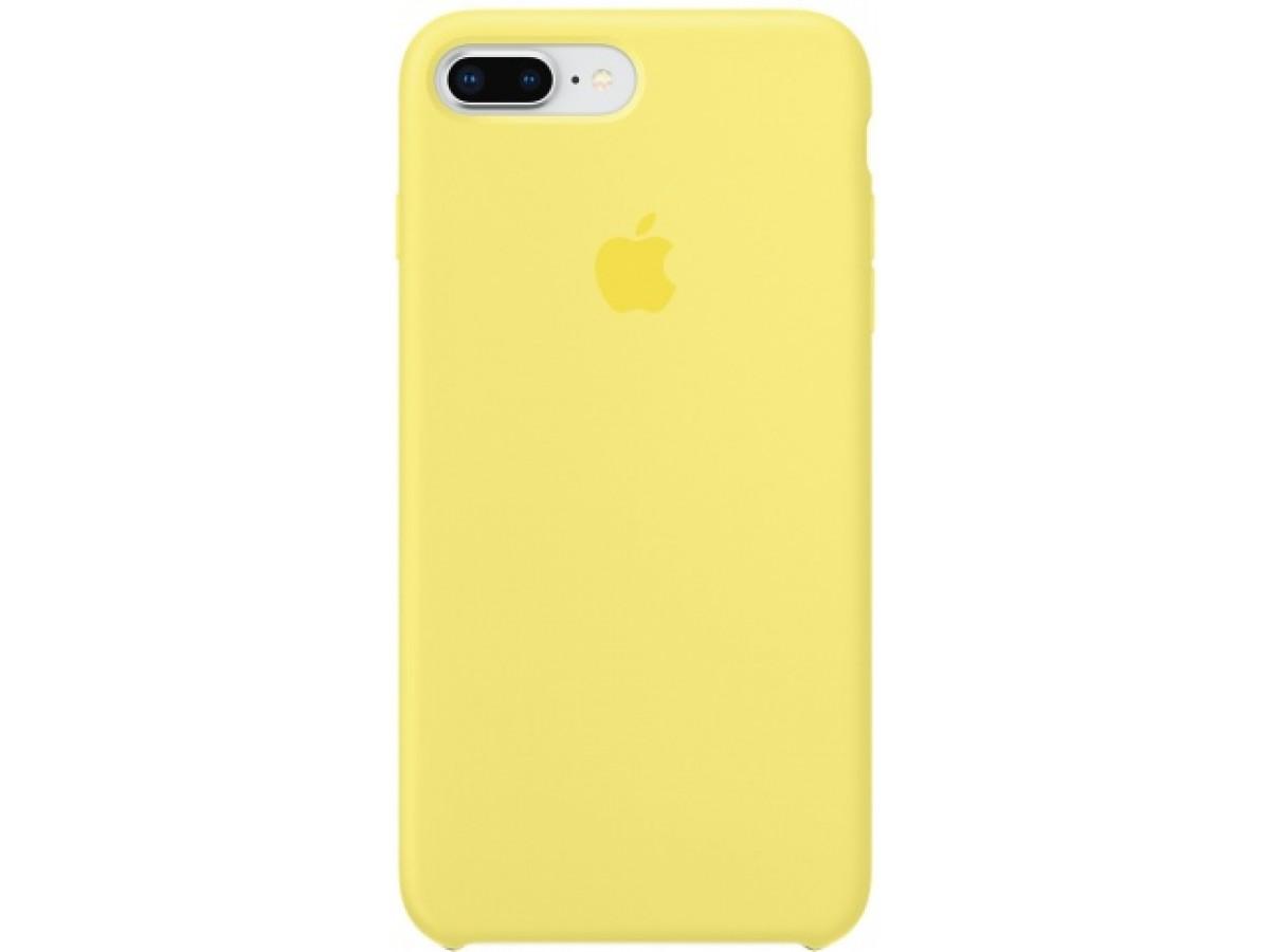 Чехол Silicone Case iPhone 7 Plus/8 Plus желтый в Тюмени