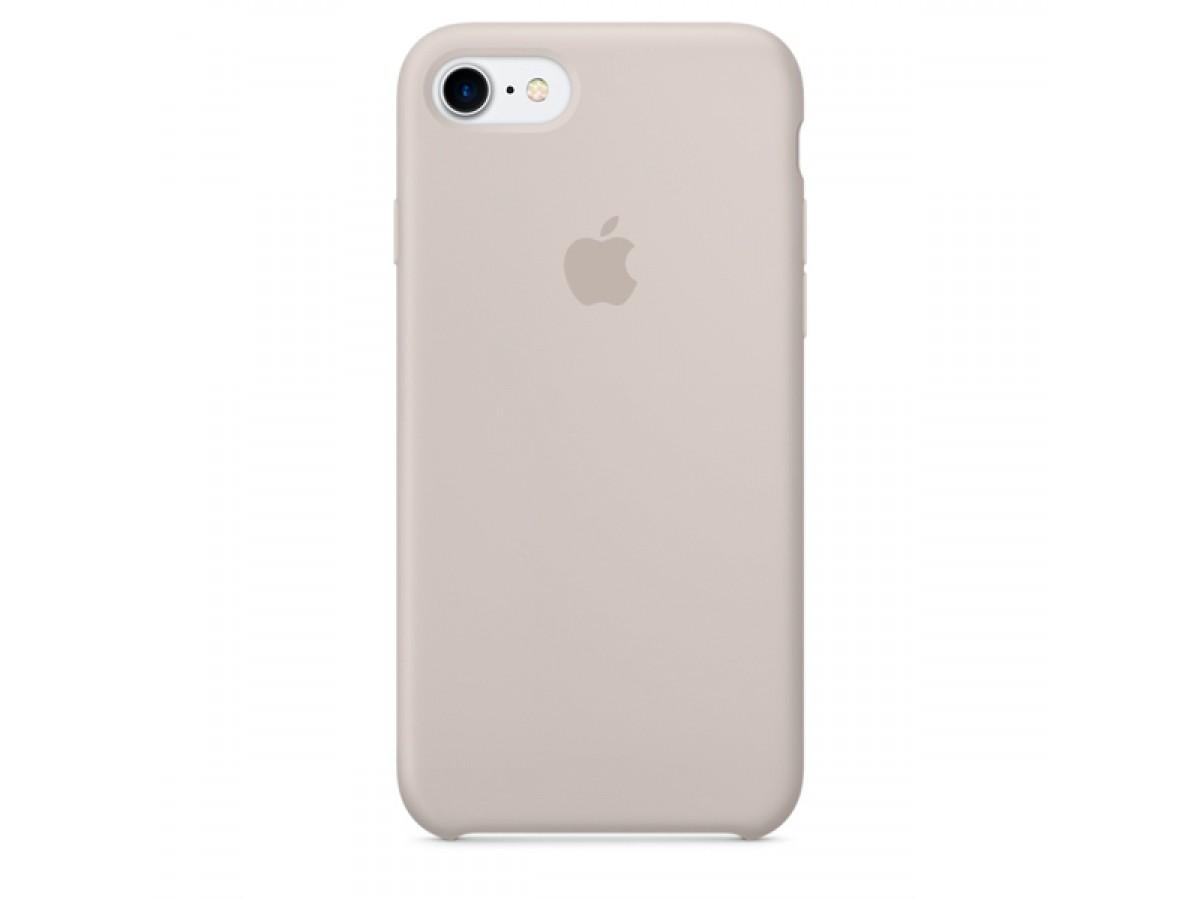 Чехол Silicone Case качество Lux для iPhone 7/8 светло-серый в Тюмени