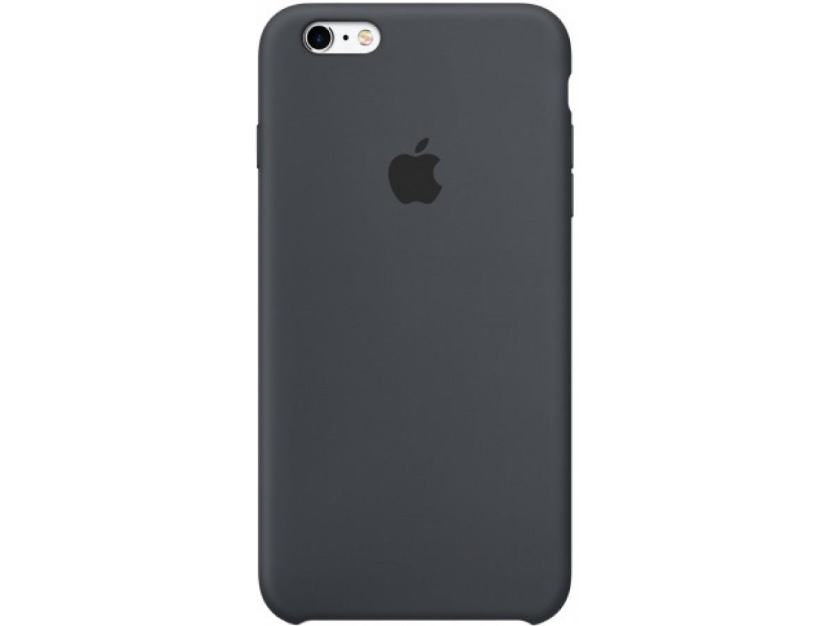 Чехол Silicone Case iPhone 6 Plus/6s Plus темно-серый в Тюмени