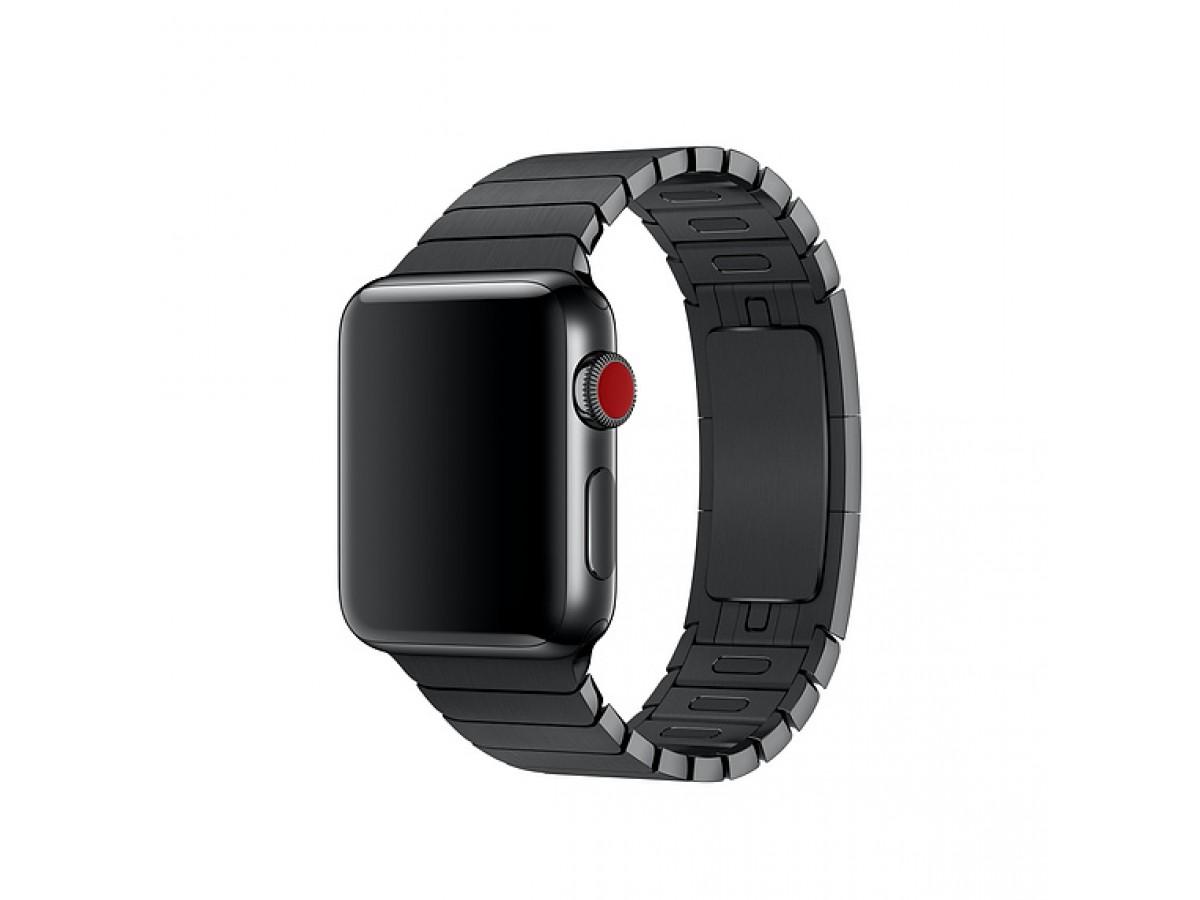 Браслет блочный Apple Watch 42/44мм, черный в Тюмени