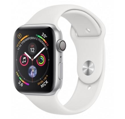 Apple Watch Series 4, 44 мм, корпус из алюминия серебри...