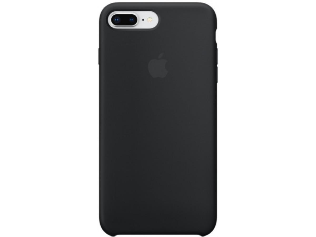 Чехол Silicone Case качество Lux для iPhone 7 Plus/8 Plus черный в Тюмени