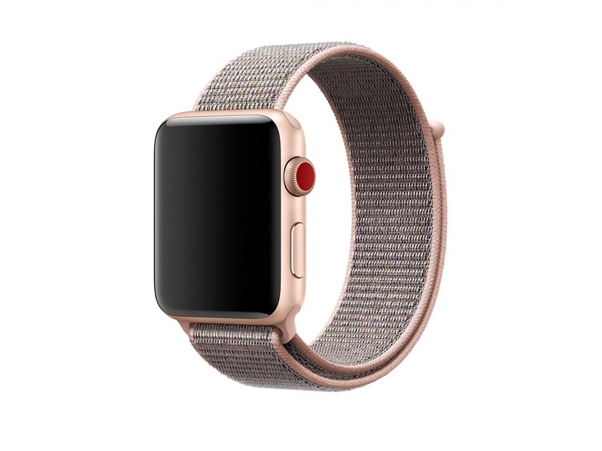 Браслет Apple Watch 42/44мм Спортивная петля (розовый) в Тюмени