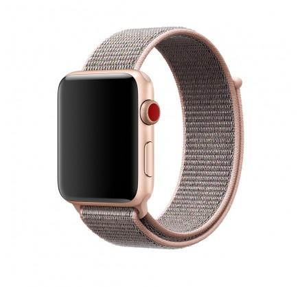 Браслет Apple Watch 42/44мм Спортивная петля (розовый)