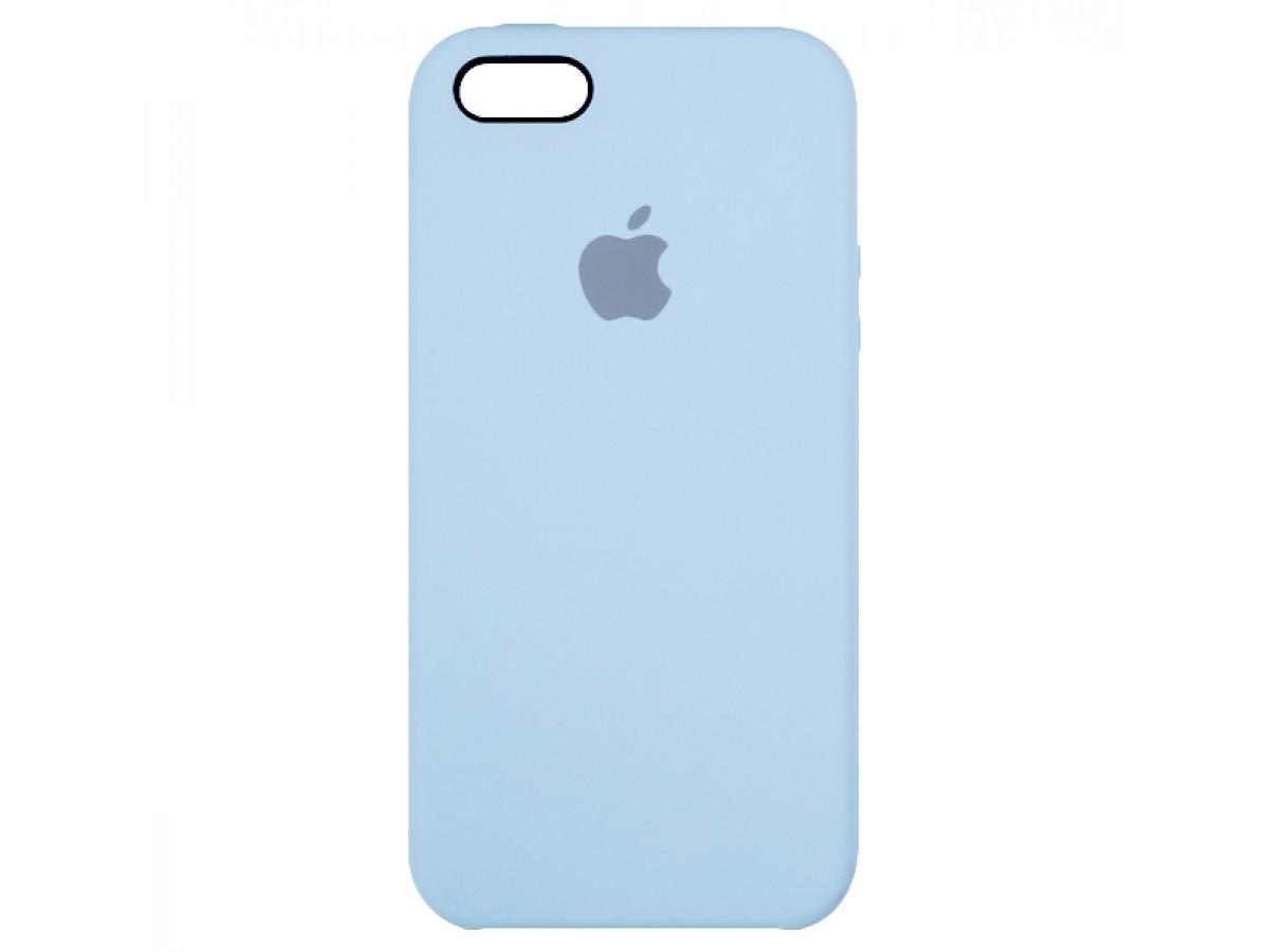 Чехол Silicone Case для iPhone 5/5s/SE светло-голубой в Тюмени
