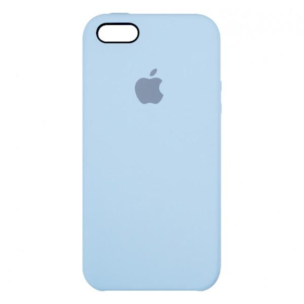 Чехол Silicone Case для iPhone 5/5s/SE светло-голубой