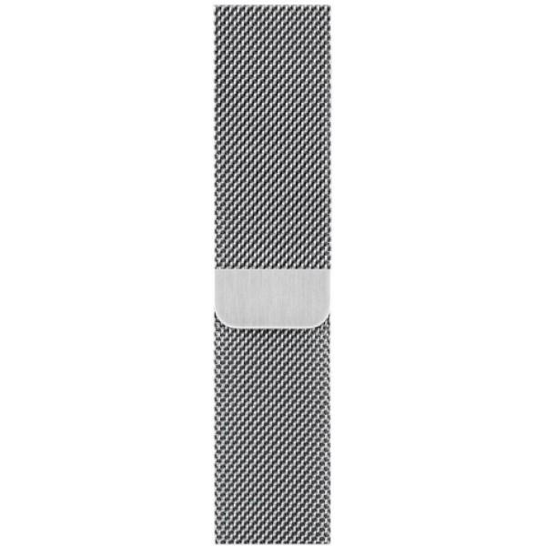 Ремешок миланский браслет Apple Watch 42/44 мм серебро