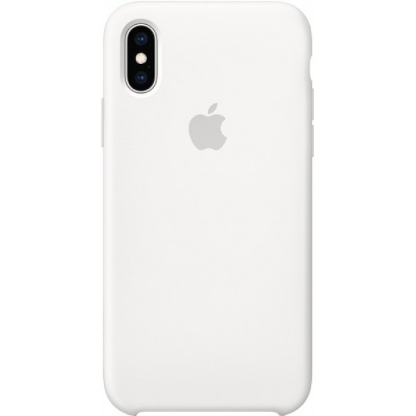Чехол Silicone Case iPhone Xs Max белый