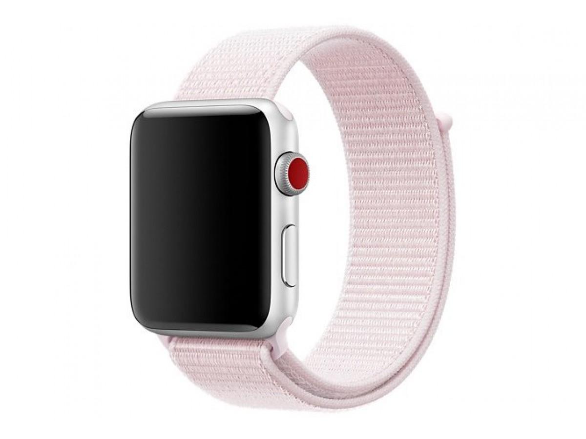 Браслет Apple Watch 42/44мм Спортивная петля (светло-розовый) в Тюмени