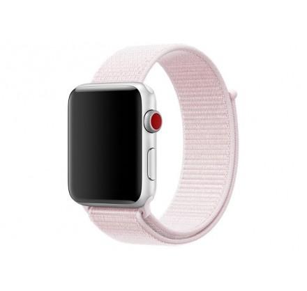 Браслет Apple Watch 42/44мм Спортивная петля (светло-ро...