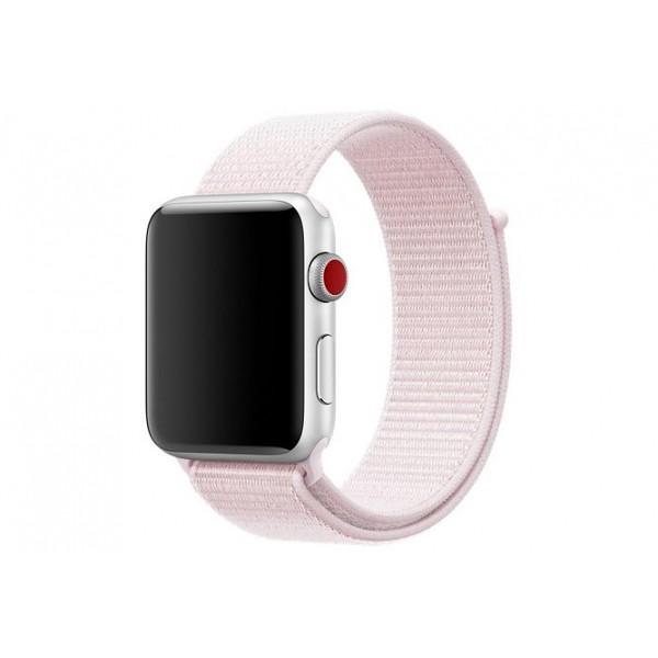Браслет Apple Watch 42/44мм Спортивная петля (светло-розовый)