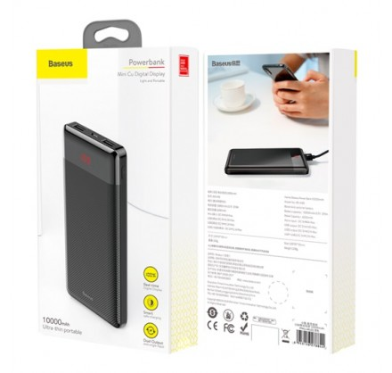 PowerBank Baseus 10000mAh BS-M35(черный/белый)