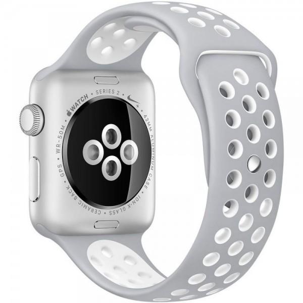 Силиконовый ремешок Apple Watch Nike 38/40мм серый