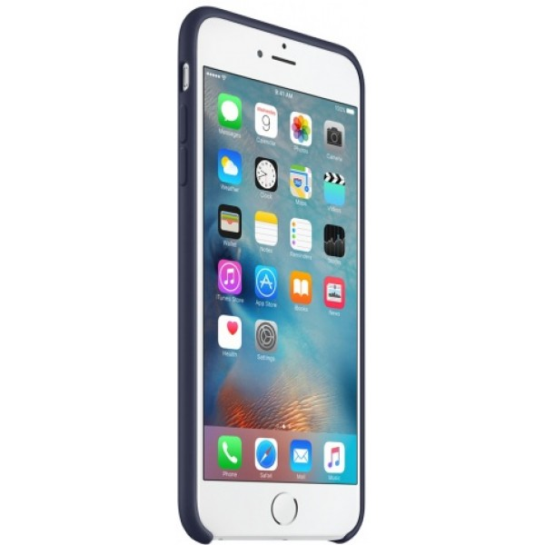 Чехол Silicone Case качество Lux для iPhone 6 Plus/6s Plus темно-синий