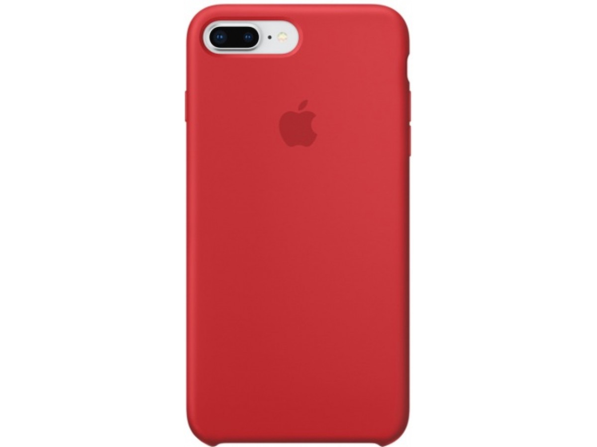 Чехол Silicone Case iPhone 7 Plus/8 Plus красный в Тюмени