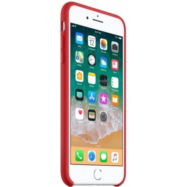 Чехол Silicone Case iPhone 7 Plus/8 Plus красный