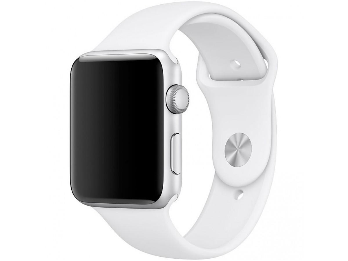 Силиконовый ремешок Apple Watch 42/44мм белый в Тюмени